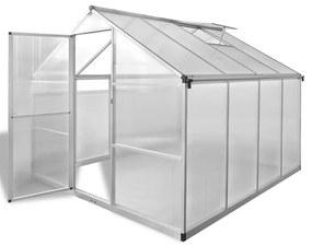 Spevnený hliníkový skleník so základným rámom 6,05 m²