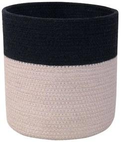 LORENA CANALS Pletený kôš Dual Black Pearl Grey, čierna/šedá