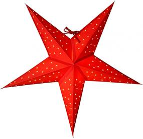 Watt & VEKE Závesná svietiaca hviezda Stella Red 52 cm