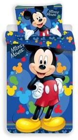 JERRY FABRICS Obliečky Mickey blue 03 Polyester 140/200, 70/90 cm