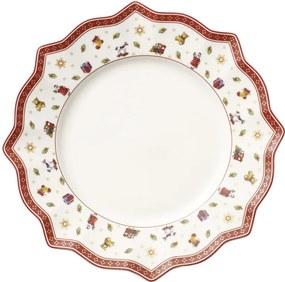 Biely plytký tanier 29 cm Toy's Delight