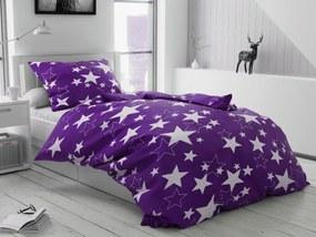Bavlnené obliečky Star fialová