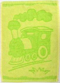 Detský uterák BEBÉ mašinka zelený 30x50 cm