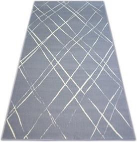 3kraft Kusový koberec BCF BASE STROKES 3970 čtverce šedý