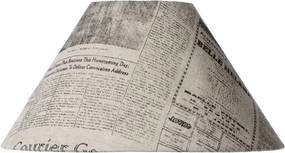 Tienidlo pre LUCIDE LUCIDE Shade D25 H13cm Newspaper Print 61022/25/55