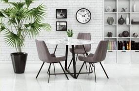 Jedálenský stôl sklenený LOOPER biela / čierna Halmar
