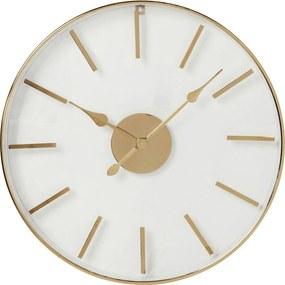 Nástenné hodiny v ružovozlatej farbe Kare Design, ⌀ 46 cm