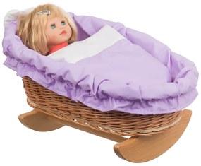 Kolíska prútená pre bábiku Vugge III.
