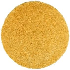 Žltý koberec Universal Aqua Liso, ø 100 cm