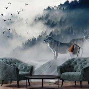 Fototapeta - Vtáky v hmle (254x184 cm), 10 ďalších rozmerov
