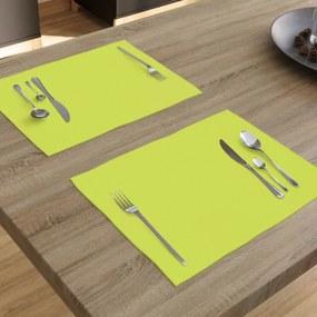 Goldea prestieranie na stôl loneta - zelené - sada 2ks 30 x 40 cm