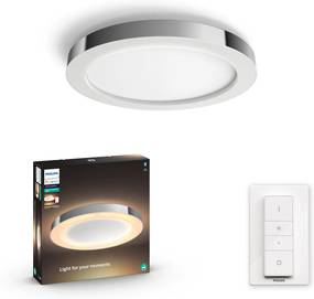 Philips HUE White Ambiance 34184/11/P6 Adore Kúpeľňové stropné LED svietidlo 40W/2400lm 2200-6500K chróm Bluetooth
