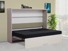 sklápacia posteľ VS1056P, 200x140cm lamino: buk, nosnost postele: standardní nosnost