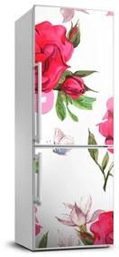 Fototapeta samolepiace na chladničku Červené ruže FridgeStick-70x190-f-85695644