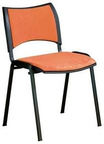 Konferenčná stolička Smart Black, oranžová