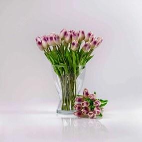 Umelý tulipán IVONA fialovo-biely. Cena uvedená za 1 kus.