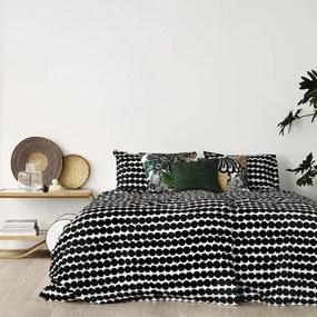 Obliečky Räsymatto 220x240 50x60, bavlnené, čierne