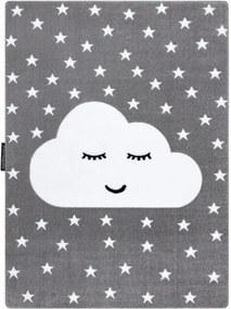 Detský kusový koberec Mráčik sivý, Velikosti 120x170cm