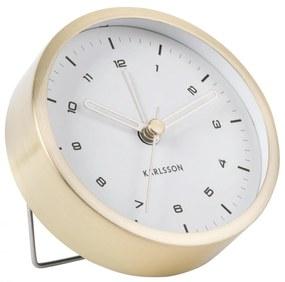 Karlsson Dizajnový budík Tinge Gold