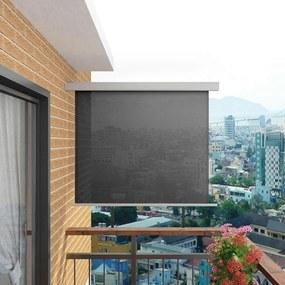 vidaXL Bočná markíza na balkón, multifunkčná 150x200 cm, sivá