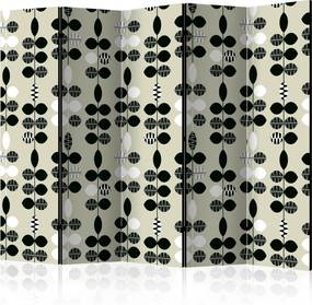 Paraván - Black and White Dots [Room Dividers] 225x172