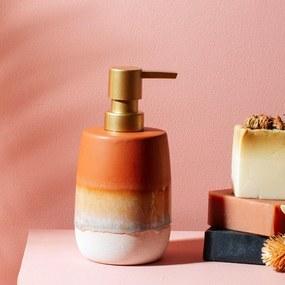 sass & belle Keramický zásobník na mydlo Mojave Glaze Terracotta