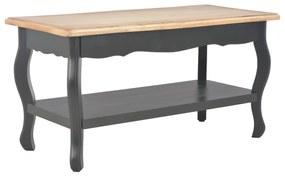 vidaXL Konferenčný stolík čierno-hnedý 87,5x42x44cm masívne borovicové drevo