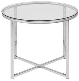 Cross R55 príručný stolík sklo/chróm