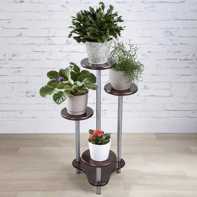 Kvetinový stolík ROLAND tmavé drevo