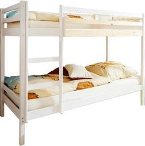 MG Poschodová posteľ Kamelia 200x90 Farba: Biela, Variant úložný box: Bez úložného boxu
