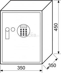 RS45 R.LA elektronický sejf