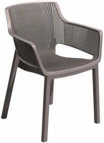 KETER ELISA záhradná stolička, 57,7 x 62,5 x 79 cm, cappuccino 17209499