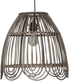 Chic Antique Ratanový luster Brown Bell