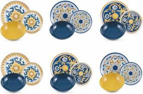 18-dielna sada farebného riadu z porcelánu a kameniny Villa d'Este Sicilia