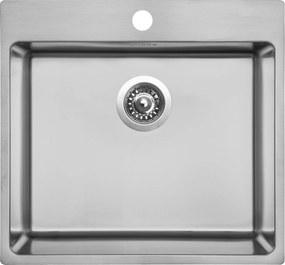 Kuchynský nerezový drez Sinks BLOCKER 550 V kartáčovaný
