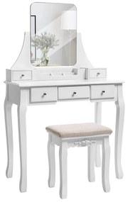 Rongomic Toaletní stolek Jawie bílý