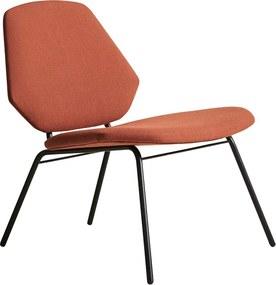 "Salónne kreslo ""Lean"", 6 variantov - Woud Varianta: hrdzavo oranžová (Gabriel Crisp, 4301)"
