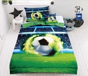 UNIVERSAL DESIGN 3D Obliečky Futbalová lopta Polyester 140/200, 70/90 cm