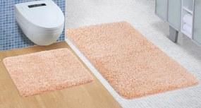 Brotex Kúpeľňová sada predložiek Micro 60x100 + 60x50cm lososová