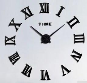 Veselá Stena Hodiny nástenné čierne Rímske číslice