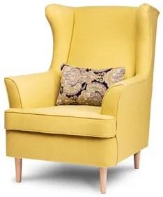 Kreslo ušiak STRALIS Žlutá