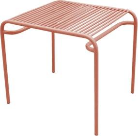 LEITMOTIV Exteriérový stolík Lineate Metal tehlová