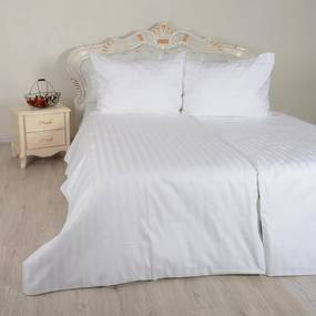 Obliečky damaškové biele Emi 1x Vankúš 90x70cm, 1x Paplón 140x200cm
