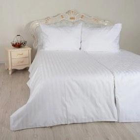 Obliečky damaškové biele Emi 1x Vankúš 90x70cm, 1x Paplón 140x220cm