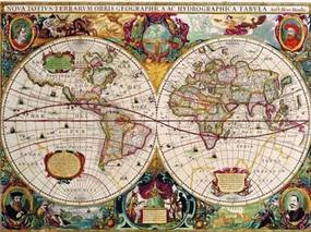 Retro tabula, rozmer 40 x 30 cm, World Map, IMPOL TRADE PT108T2