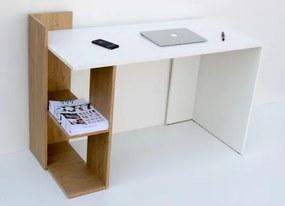 Pracovný stôl SHELF sonoma / biela