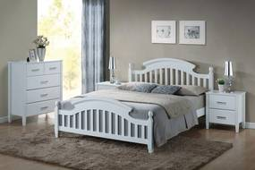 Najlacnejsinabytok LIZBONA drevená manželská posteľ 160, biela