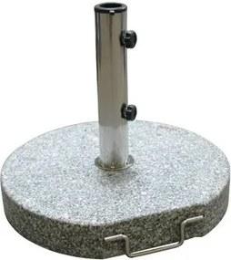 DEMA Stojan na slnečník s kolieskami 45 cm 30 kg Granit