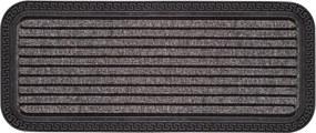 Rohožka BORDER STAR sivá - 25x60 cm