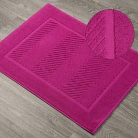DomTextilu Krásna amarantová kúpeľňová predložka so vzorom  50 x 70 cm 44556-208288 Ružová